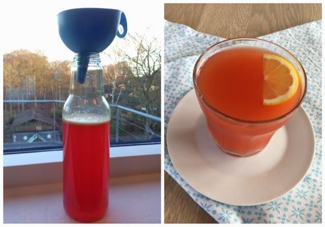 Iskoldt og lækkert friskpresset frugtjuice