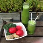 Æblejuice med grønkål