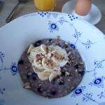 Morgengrød med blåbær
