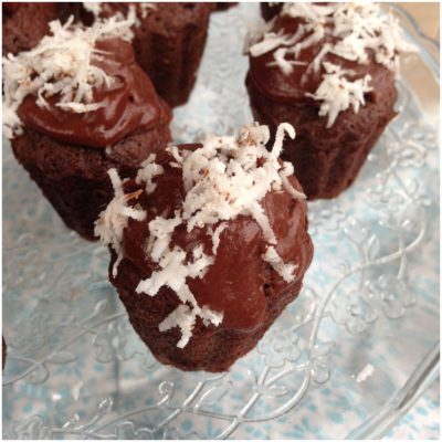 Små chokolade muffins