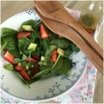 Frisk jordbærsalat