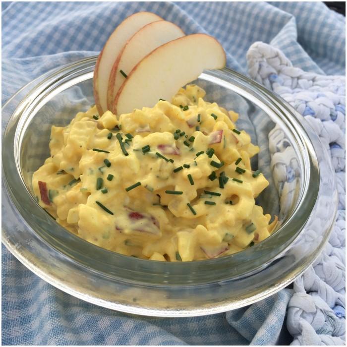 Æggesalat med hjemmelavet majonaise