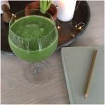 Grøn, mættende smoothie