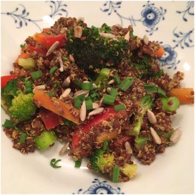 Grønsagsret med quinoa
