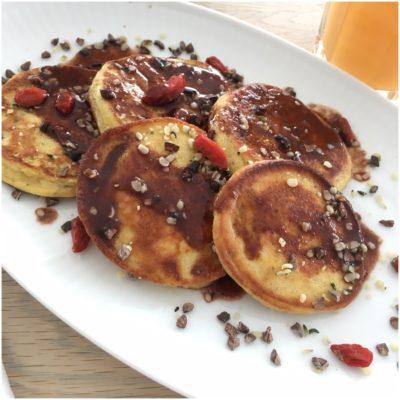 Små proteinfyldte pandekager