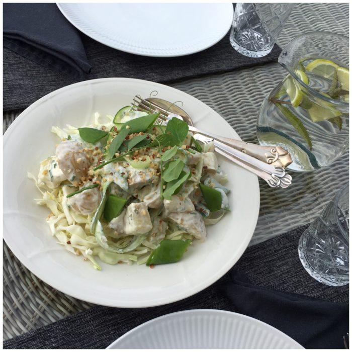 Sommerlig og sprød kartoffelsalat