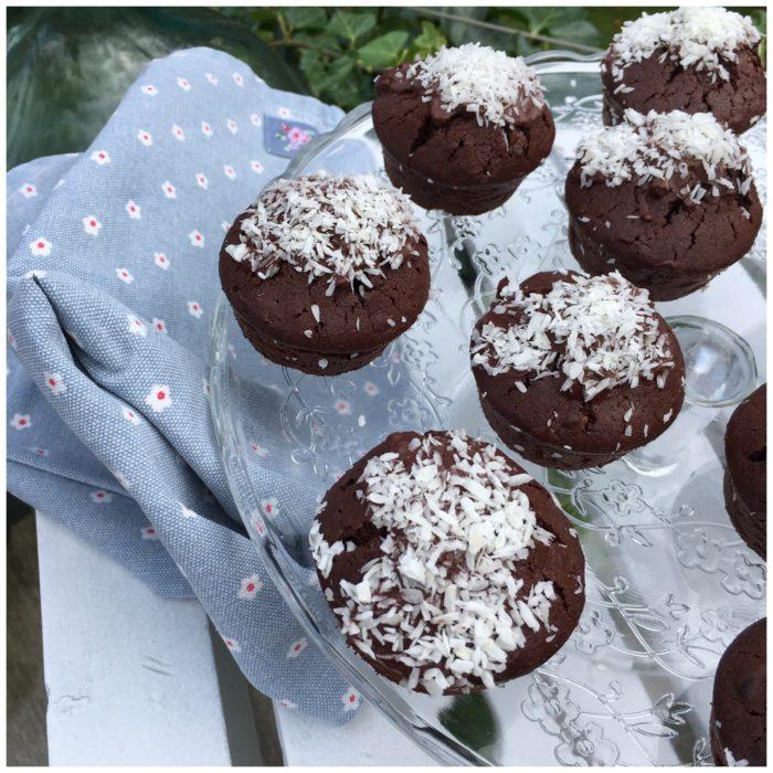 Chokolademuffins med kokos