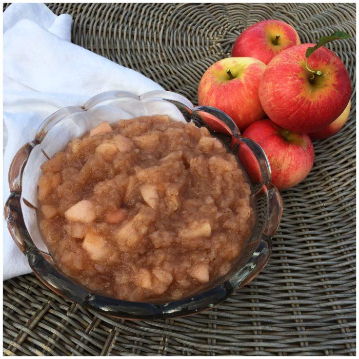 Vaniljeprikket og lidt sundere æblegrød