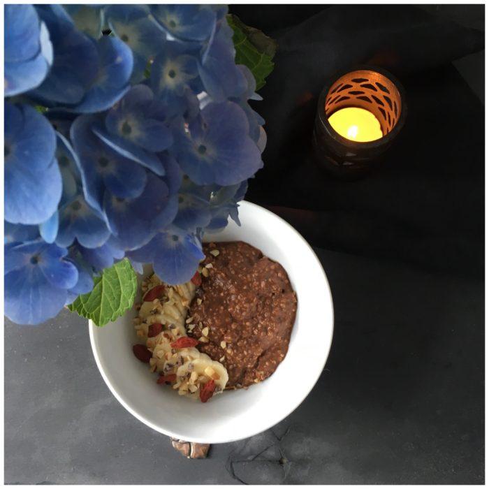 Hampegrød med chokoladesmag