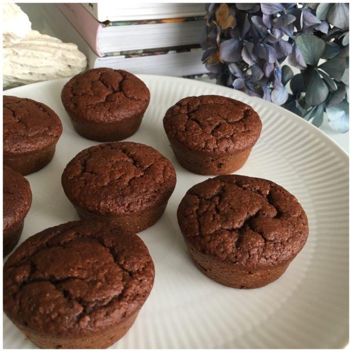 Chokolade og bananmuffins uden sukker