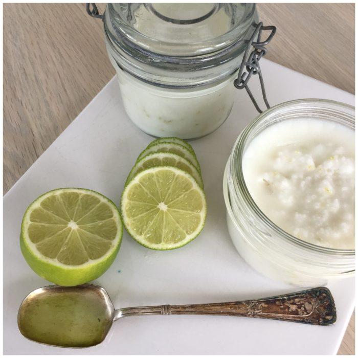 Saltskrub med lime og kokos