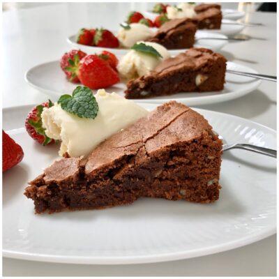 Brownies på den hyggeligste morsdag