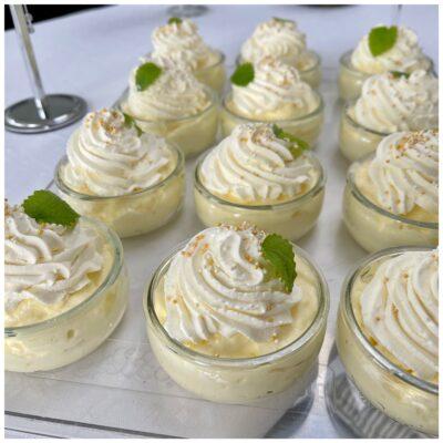 Citronfromage i små portionsglas
